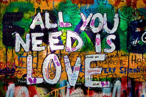 All You need is Love - Prague Wall