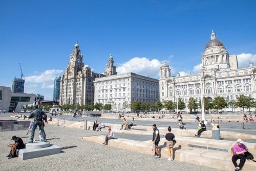 The Pier Head area of Liverpool